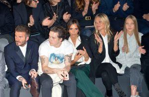 Kate Moss et sa fille Lila complices avec les Beckham au défilé Dior à Paris