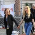 "Amber Heard et sa compagne Bianca Butti lors de la ""Women's March"" à Los Angeles, le 18 janvier 2020."