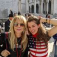 "Rosanna Arquette, Alicia Arden lors de la ""Women's March"" à Los Angeles, le 18 janvier 2020."