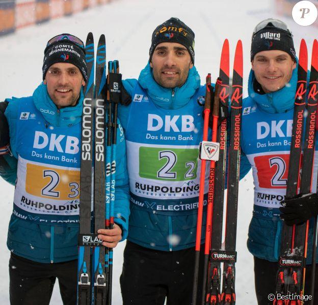 Emilien Jacquelin, Martin Fourcade, Simon Desthieux et Quentin Fillon Maillet ont remporté le relais de biathlon de Ruhpolding en Allemagne le 18 janvier 2020.