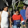 Christina Milian, enceinte, avec son compagnon M.Pokora et sa fille, à Los Angeles, Californie, Etats-Unis, le 7 janvier 2020.