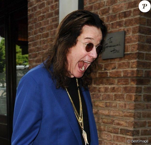 """Ozzy Osbourne arrive à l'hôtel """"The Greenwich"""" à New York, le 5 septembre 2018."""