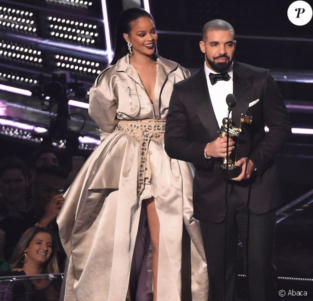 Drake et Rihanna aux MTV Video Music Awards, le 28 août 2016.