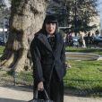 Chantal Thomass arrive au Grand Palais pour assister au défilé Haute Couture Elie Saab printemps-été 2020. Paris, le 22 janvier 2020. © Christophe Clovis - Veeren Ramsamy / Bestimage