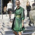 Audrey Dana arrive au Grand Palais pour assister au défilé Haute Couture Elie Saab printemps-été 2020. Paris, le 22 janvier 2020. © Christophe Clovis - Veeren Ramsamy / Bestimage