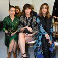 Audrey Dana, Marina Hands et Sveva Alveti assistent au défilé Elie Saab, collection Haute Couture printemps-été 2020 au Grand Palais. Paris, le 22 janvier 2020.