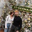 Exclusif - Jade Leboeuf et son mari Stéphane Rodrigues assistent à la soirée de présentation de la liqueur St-Germain, dans le quartier de Saint-Germain-des-Près. Paris, le 23 janvier 2020. © Veeren/Bestimage