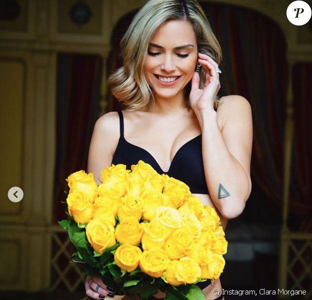 Clara Morgane, souriante et sexy pour son anniversaire. Janvier 2020.
