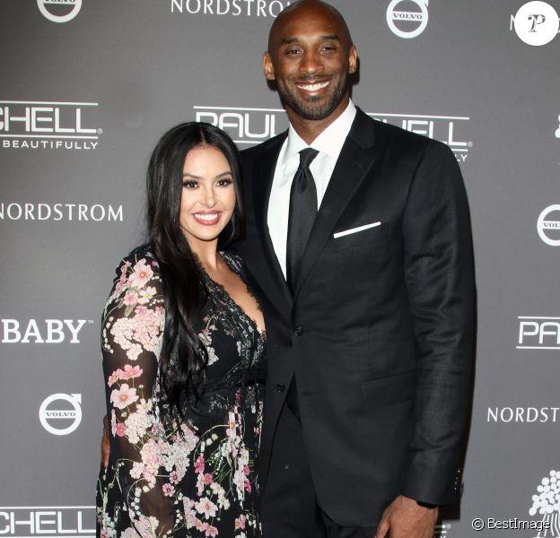 Kobe Bryant et sa femme Vanessa Laine Bryant - Les célébrités posent lors du photocall de la soirée Baby2Baby à Culver City le 10 novembre 2018.