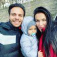 Julie Ricci, PJ et leur fils Gianni, le 5 décembre 2019, à Lyon
