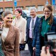 La princesse Victoria de Suède et le prince Daniel visitaient un atelier à Höganäs le 29 janvier 2020.