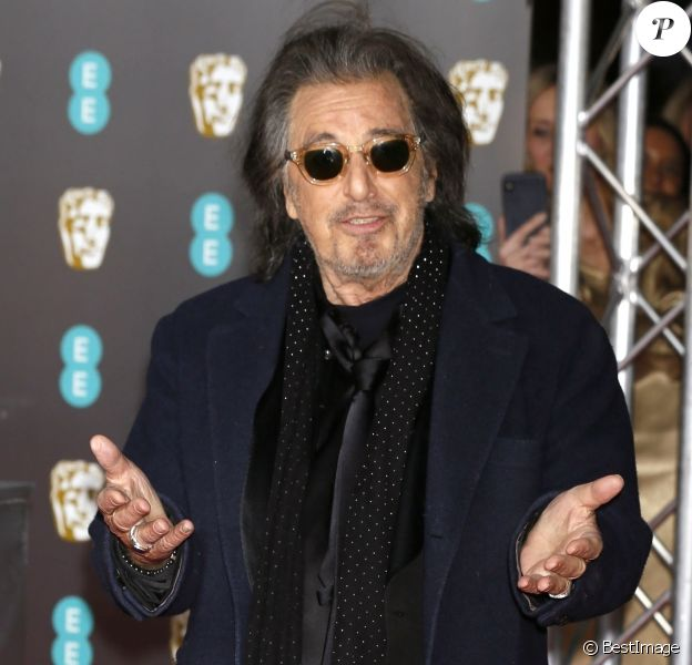 Al Pacino - 73e cérémonie des British Academy Film Awards (BAFTA) au Royal Albert Hall à Londres, le 2 février 2020.