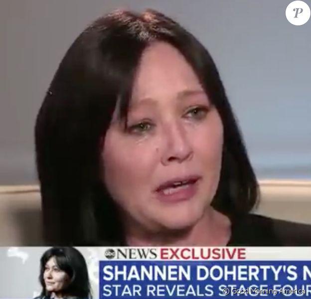 """Shannen Doherty invitée de l'émission """"Good Morning America"""". Le 4 février 2020."""