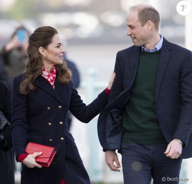 Catherine Kate Middleton, duchesse de Cambridge, le prince William, duc de Cambridge lors d'une visite aux Royal National Lifeboat Institution (RNLI) à Swansea le 4 février 2020.