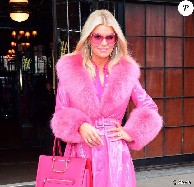 Jessica Simpson quitte l'hôtel The Bowery à New York. Le 4 février 2020.