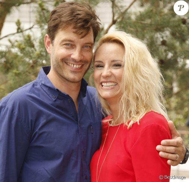 Elodie Gossuin-Lacherie et son mari Bertrand Lacherie - No Web - People au village lors des internationaux de tennis de Roland Garros le 28 mai 2018.