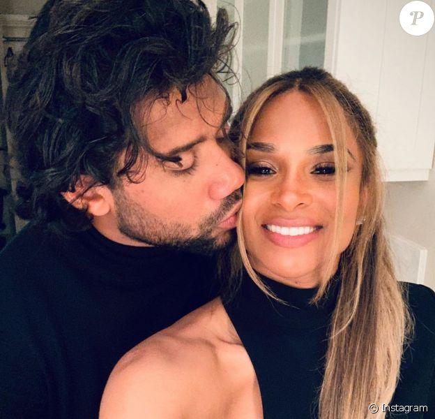 Ciara et son mari Russell Wilson lors de la soirée du 7 février 2020, où ils ont assisté au défilé Tom Ford à Los Angeles.