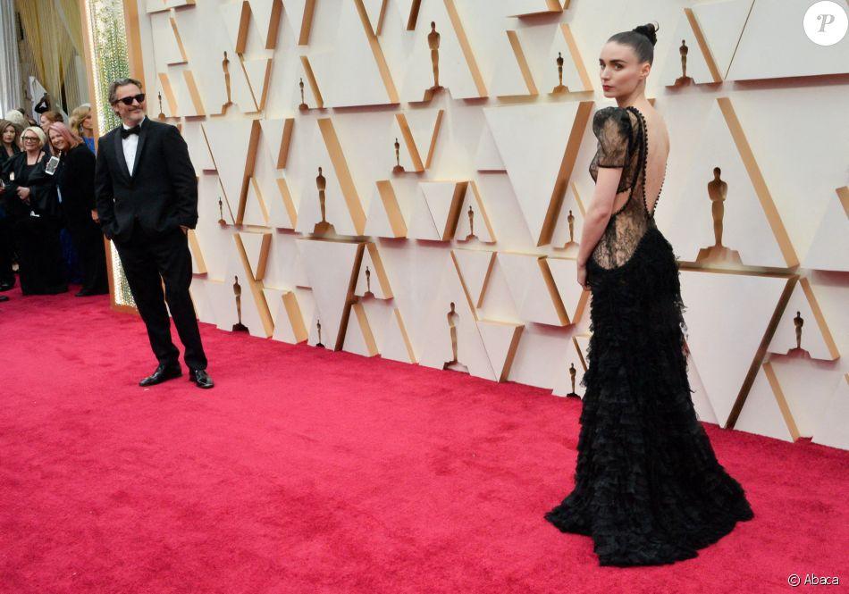 Joaquin Phoenix et Rooney Mara assistent aux 92e Oscars au Dolby Theatre. Hollywood, Los Angeles, le 9 février 2020.