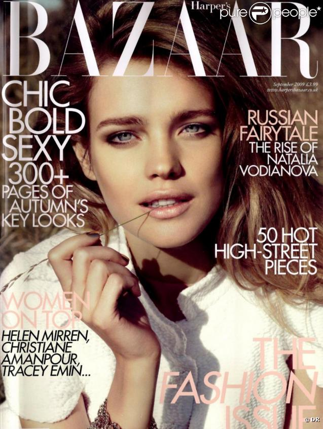 natalia vodianova en couverture pour l 39 dition de septembre prochain du magazine de mode anglais. Black Bedroom Furniture Sets. Home Design Ideas