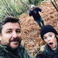 Bruno Guillon, son père et son fils Anatole, sur Instagram, le 1er novembre 2018.