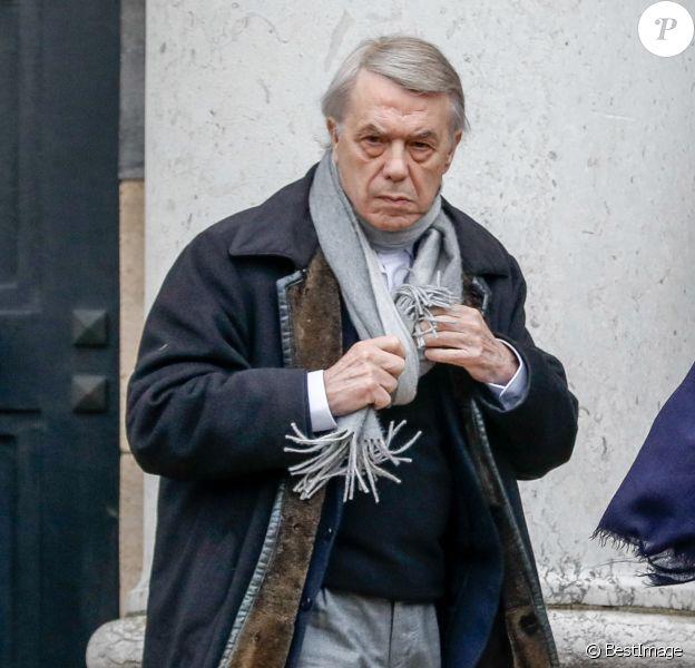 Salvatore Adamo - Obsèques de Sébastien Demorand à la Coupole du crématorium du cimetière du Père-Lachaise à Paris, France, le 31 janvier 2020.
