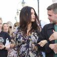 """Jenna Dewan enceinte fait une interview pour """"Entertainment Tonight"""" sur le Santa Monica Pier à Los Angeles, le 19 novembre 2019."""
