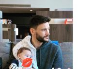 Hugo Lloris, papa poule : Tendre câlin avec son bébé Léandro