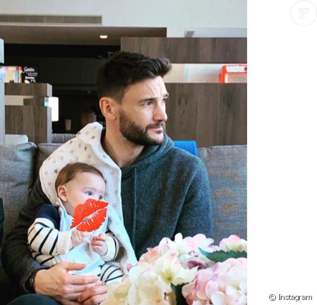 Hugo Lloris et son fils Léandro sur Instagram, le 6 février 2020.
