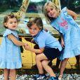 La princesse Adrienne, le prince Nicolas et la princesse Leonore de Suède, les trois enfants de la princesse Madeleine de Suède et de Christopher O'Neill, dans une photo partagée sur Instagram par leur maman en octobre 2019.