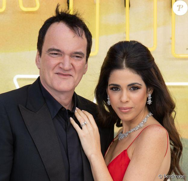 "Quentin Tarantino et sa femme Daniella Pick - Avant-première du film ""Once Upon a Time in Hollywood"" au Odeon Leicester Square à Londres, le 30 juillet 2019."