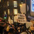 Manifestation contre la nomination de Roman Polanski avant la cérémonie des César 2020 à Paris, le 28 février 2020.