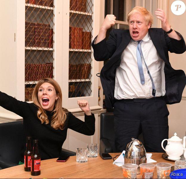 Boris Johnson et Carrie Symonds à Londres, le 13 décembre 2019.