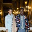 Black M (Black Mesrimes) et sa femme Léa Djadja assistent au défilé Stella McCartney, collection automne-hiver 2020-2021, à l'Opéra Garnier. Paris, le 2 mars 2020. © Olivier Borde/Bestimage