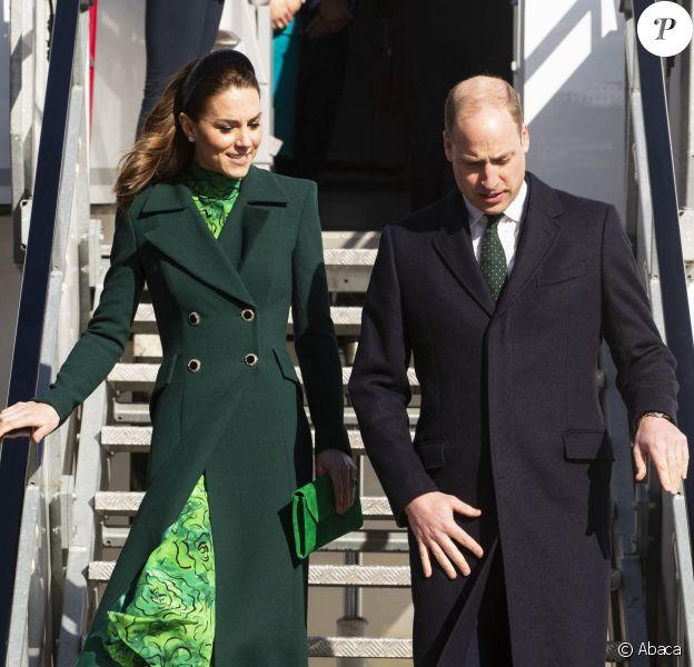 Kate Middleton et le prince William à Dublin, en République d'Irlande, le 3 mars 2020.