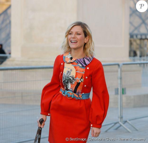 Marina Foïs - Arrivées au défilé Louis Vuitton collection prêt-à-porter Automne/Hiver 2020-2021 lors de la Fashion Week à Paris le 3 mars 2020. © Christophe Clovis - Veeren Ramsamy / Bestimage