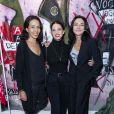 """Exclusif - Juana Acosta (au milieu) et Sandra Sisley (à droite)assistent à la soirée de lancement de la collection """"Mae x Madonna"""" à Paris, le 4 mars 2020. © Pierre Perusseau/Bestimage"""
