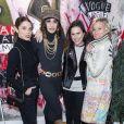 """Exclusif - Juana Acosta, Abigail Lopez Cruz et deux amiesassistent à la soirée de lancement de la collection """"Mae x Madonna"""" à Paris, le 4 mars 2020. © Pierre Perusseau/Bestimage"""