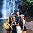 Norbert Tarayre avec son ex-femme et ses trois filles, le 31 mai 2019
