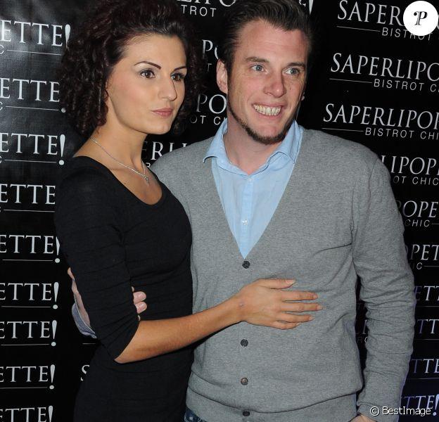 "Norbert Tarayre et sa femme Amandine - Inauguration du restaurant ""Saperlipopette!"" de Norbert Tarayre (Top Chef 3) à Puteaux, le 17 novembre 2014."