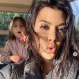 Kourtney Kardashian et sa fille Penelope. Janvier 2020.
