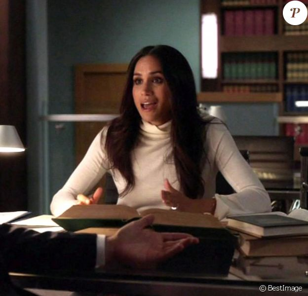 """Meghan Markle dans la série """"Suits"""", épisode diffusé le 29 mars 2018."""