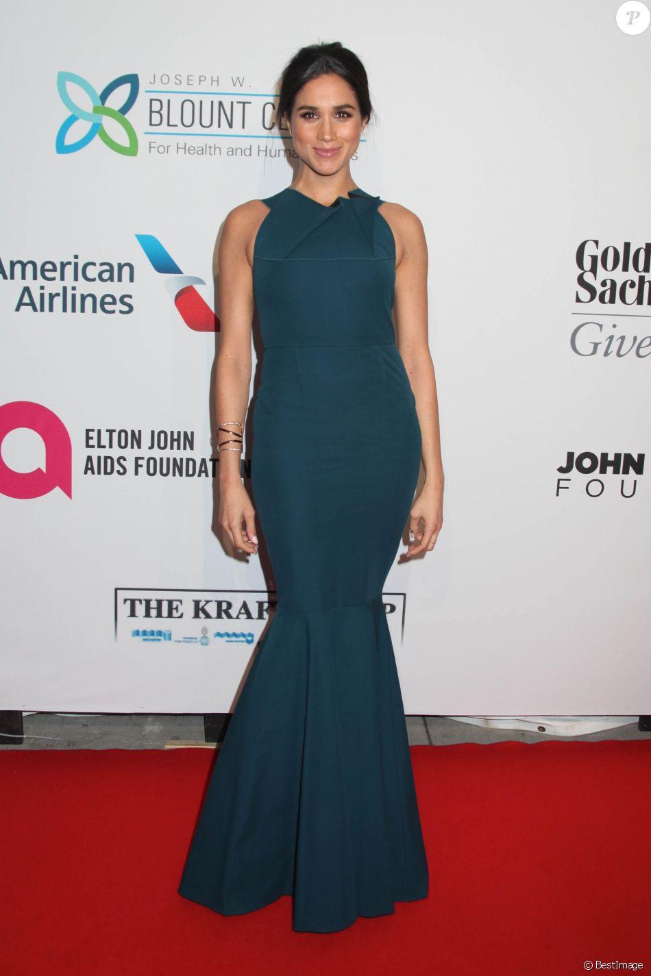 Meghan Markle à la soirée de gala caritative contre le sida à New York, le 28 octobre 2014