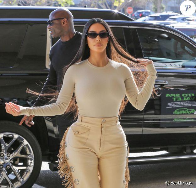 """Exclusif - Kim Kardashian et Scott Disick font du shopping chez Nordstrom pour l'émission """"L'Incroyable Famille Kardashian"""" à Los Angeles, Californie, Etats-Unis, le 6 mars 2020."""