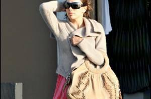 Eva Longoria : la belle brune est bien morose... un jour sans ?