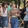 """Alexandra Daddario et Tyler Hoechlin sur le tournage de """"Can You Keep A Secret ?"""" à New York, le 10 octobre 2018."""