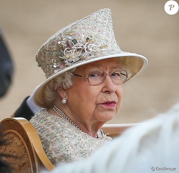 La reine Elisabeth II d'Angleterre - La parade Trooping the Colour 2019, célébrant le 93ème anniversaire de la reine Elisabeth II, au palais de Buckingham, Londres, le 8 juin 2019.