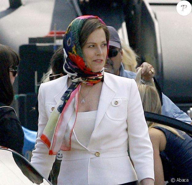 Sigourney Weaver sur le tournage de You Again à Pasadena en Californie le 17 août 2009