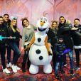 Keylor Navas avec sa famille à Disneyland Paris le 16 novembre 2019.
