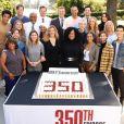 L'équipe de Grey's Anatomy fête le 350e épisode de la série. Octobre 2019.