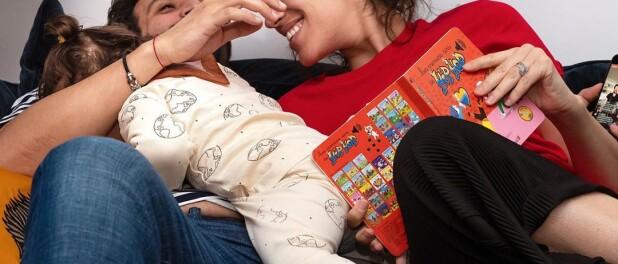 Laurie Cholewa confinée avec sa fille :